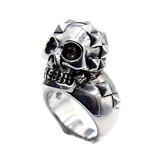 Alexander McQueen Jewelry - Alexander McQueen Studded Skull Statement Ring
